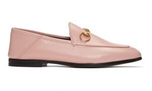 Gucci - Pink Brixton Crushback Loafers